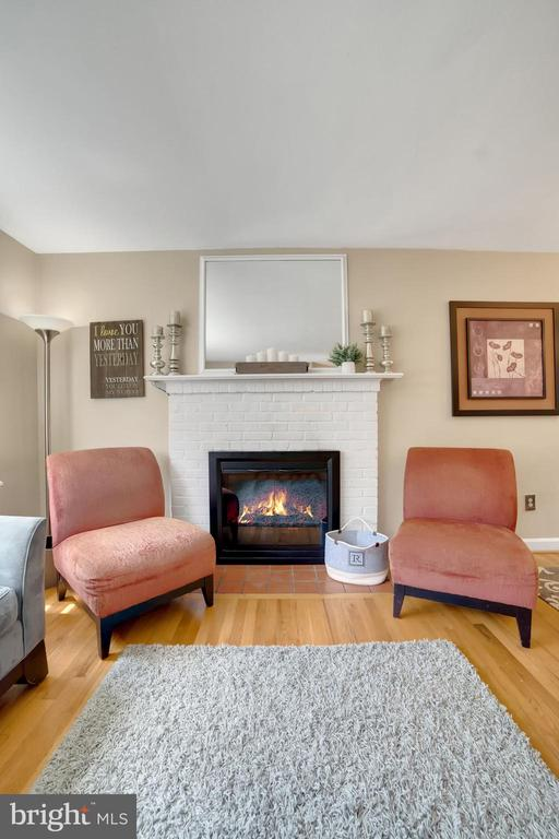 Fireplace is Beautiful Focal Point of Living Room! - 7326 RONALD ST, FALLS CHURCH