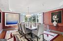 Another perspective of the dining room - 5630 WISCONSIN AVE #905, CHEVY CHASE