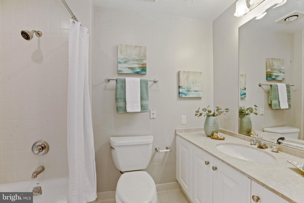 One of the 4 full baths - 5630 WISCONSIN AVE #905, CHEVY CHASE
