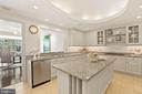 Kitchen is great for parties! - 5630 WISCONSIN AVE #905, CHEVY CHASE