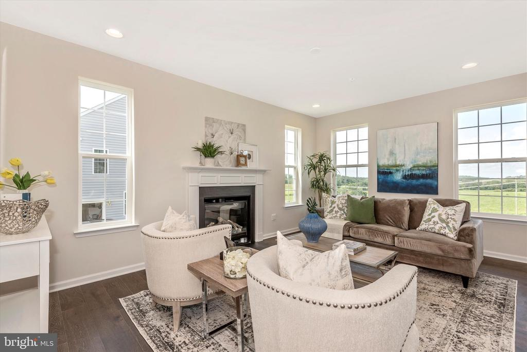 Family Room w/ included Fireplace - 527 ISAAC RUSSELL, NEW MARKET