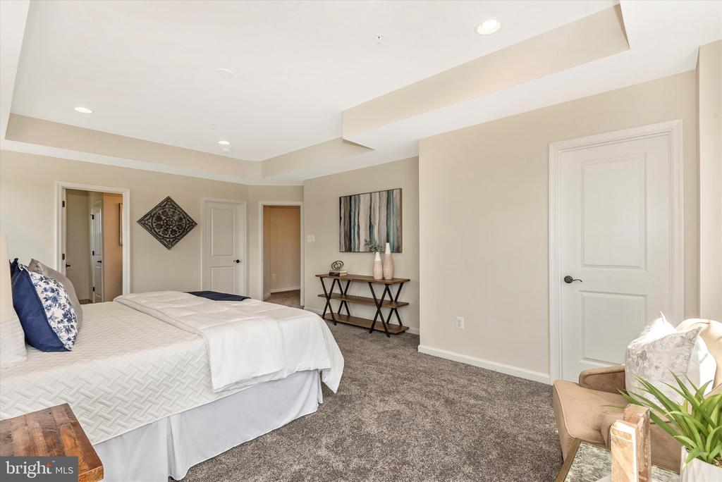 Master Bedroom w/ optional Tray Ceiling - 527 ISAAC RUSSELL, NEW MARKET