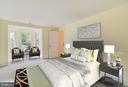 Virtually Staged Master Bedroom - 9512 LIBERTY ST, MANASSAS