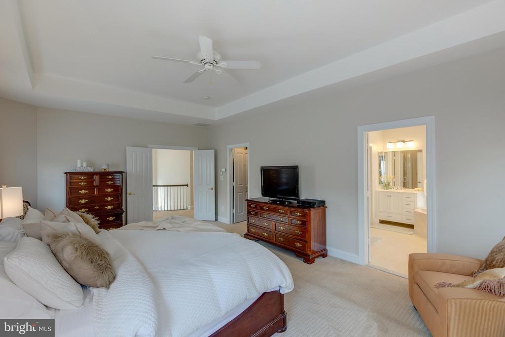 Master Bedroom view into Master Bath - 22749 HIGHCREST CIR, BRAMBLETON