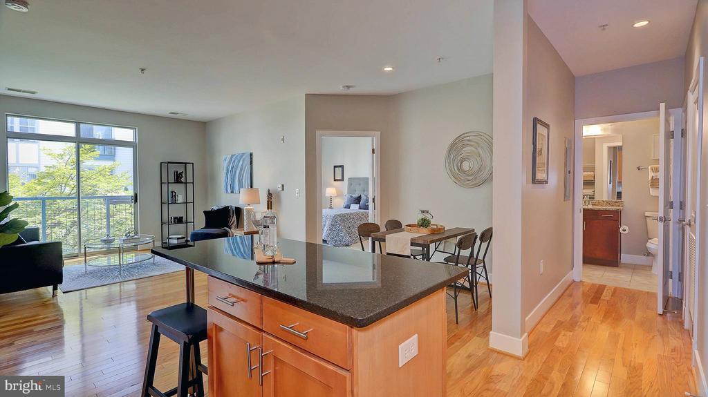 Living area and dining area - 1800 WILSON BLVD #235, ARLINGTON