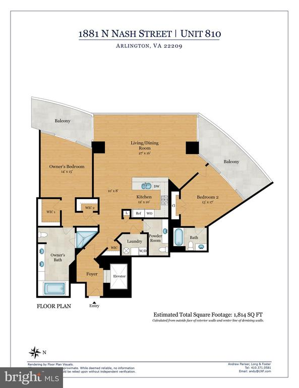Floor Plan - 1881 N NASH ST #810, ARLINGTON