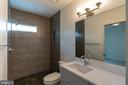 Natural light in lower level bath - 110 TAPAWINGO RD SW, VIENNA