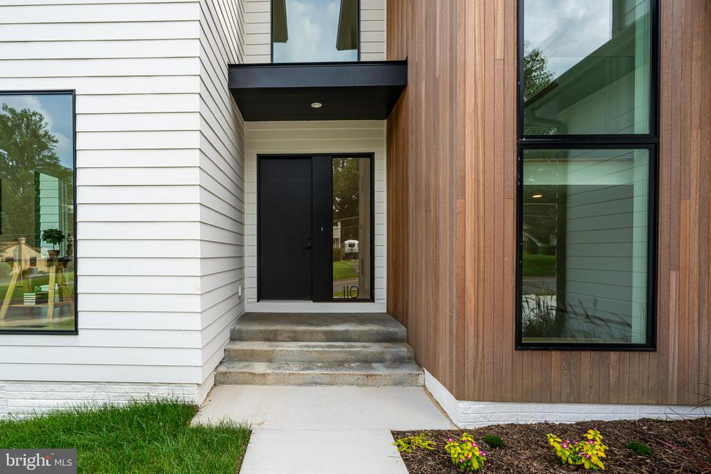 Entry - custom door and sidelight - 110 TAPAWINGO RD SW, VIENNA