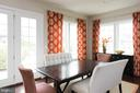 The casual dining area, surrounded with windows... - 25748 RACING SUN DR, ALDIE