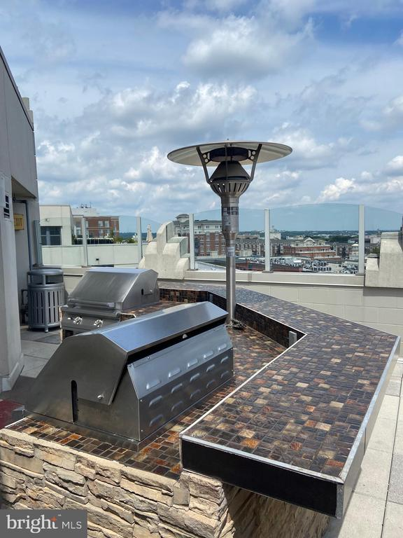 Rooftop Grill area-look at that view! - 1021 N GARFIELD ST #404, ARLINGTON
