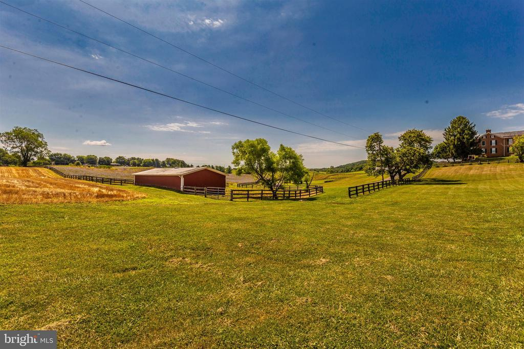 View from far hilltop pasture. - 7030 DRUMMINE RD, MOUNT AIRY