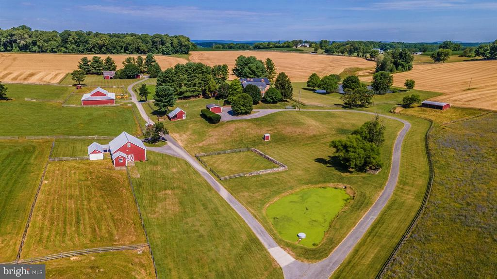 Gorgeous aerial highlighting idyllic setting - 7030 DRUMMINE RD, MOUNT AIRY