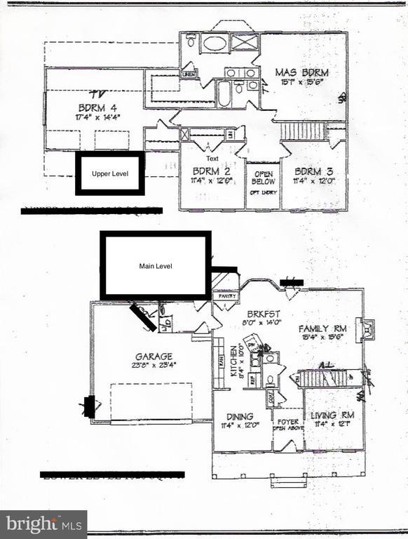 Main Level floor plan - 10 ABINGTON CT, FREDERICKSBURG