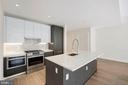Gourmet kitchen, gas cooking. - 1745 N ST NW #310, WASHINGTON