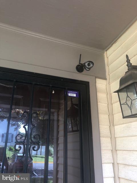 Security Camera at Front Door - 322 MEADOW WAY, LANDOVER
