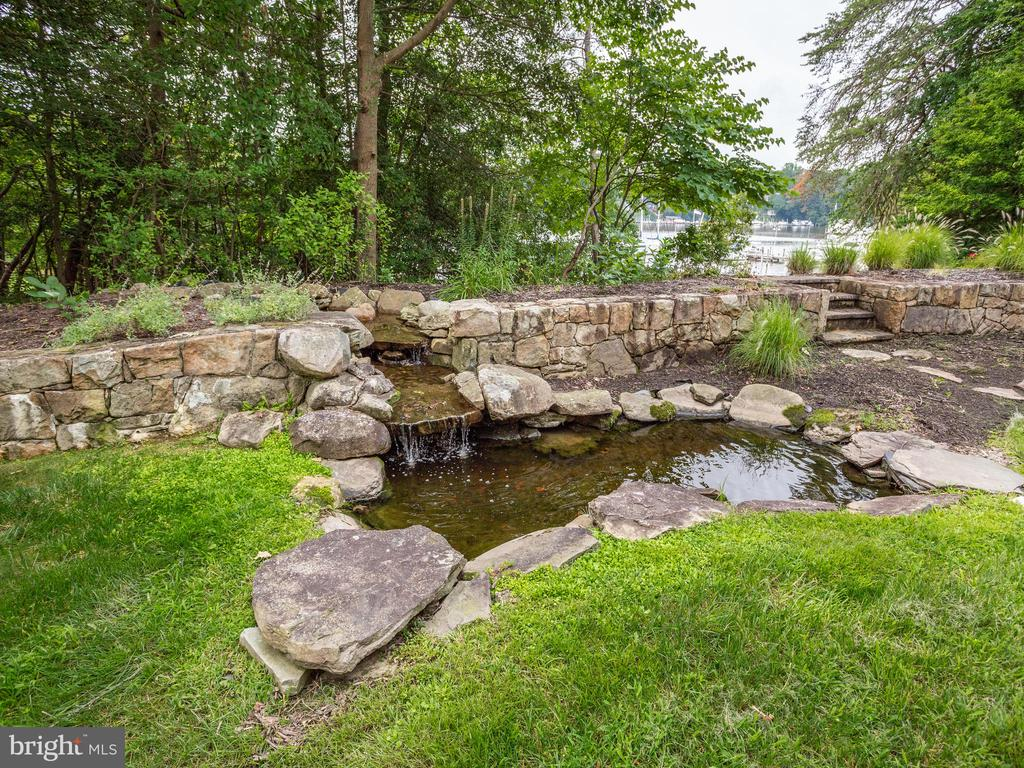 Pond with Waterfall - 658 ROCK COVE LN, SEVERNA PARK