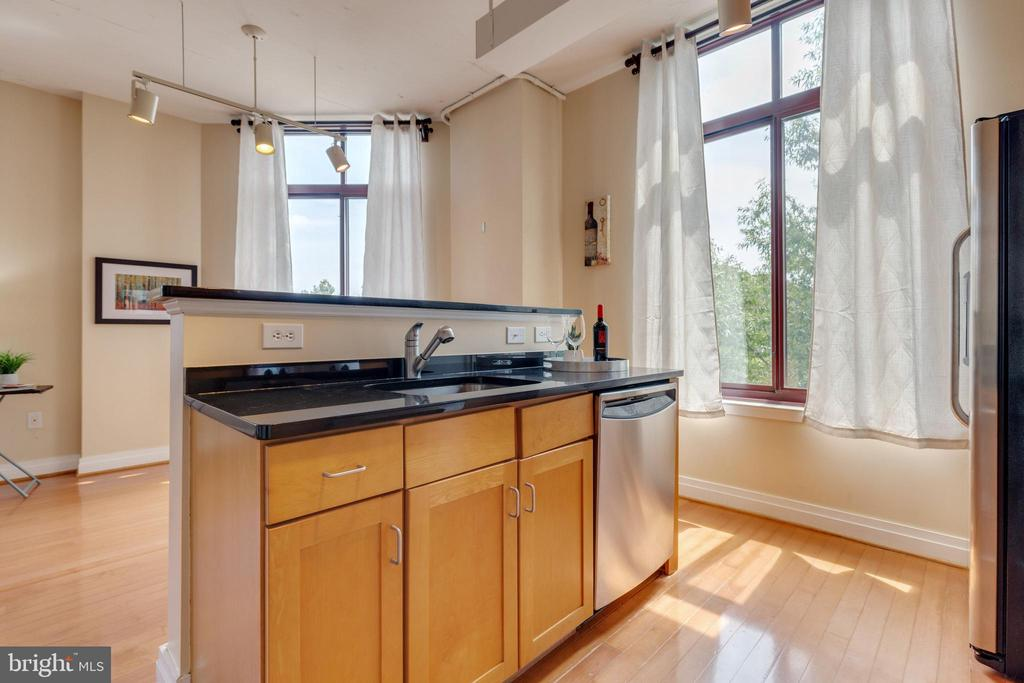 Maple cabinetry with granite counters - 1201 N GARFIELD ST #316, ARLINGTON
