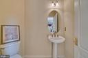 Main level powder room - 19920 HAZELTINE PL, ASHBURN