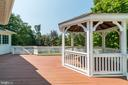 Deck with gazebo - 19920 HAZELTINE PL, ASHBURN