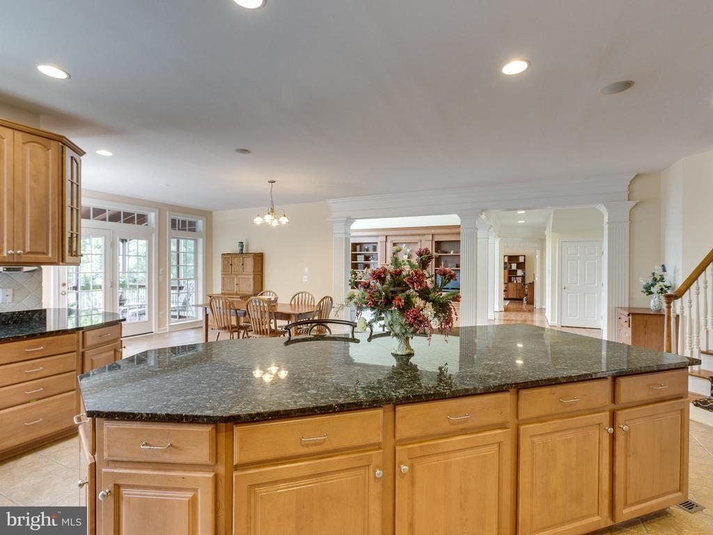 The kitchen looks out into the Family Room. - 42294 IRON BIT PL, CHANTILLY