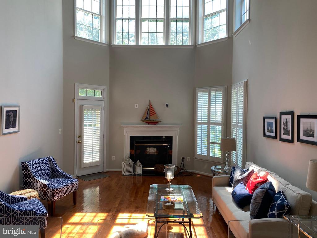 Family room with two levels of windows - 42939 PARK BROOKE CT, BROADLANDS
