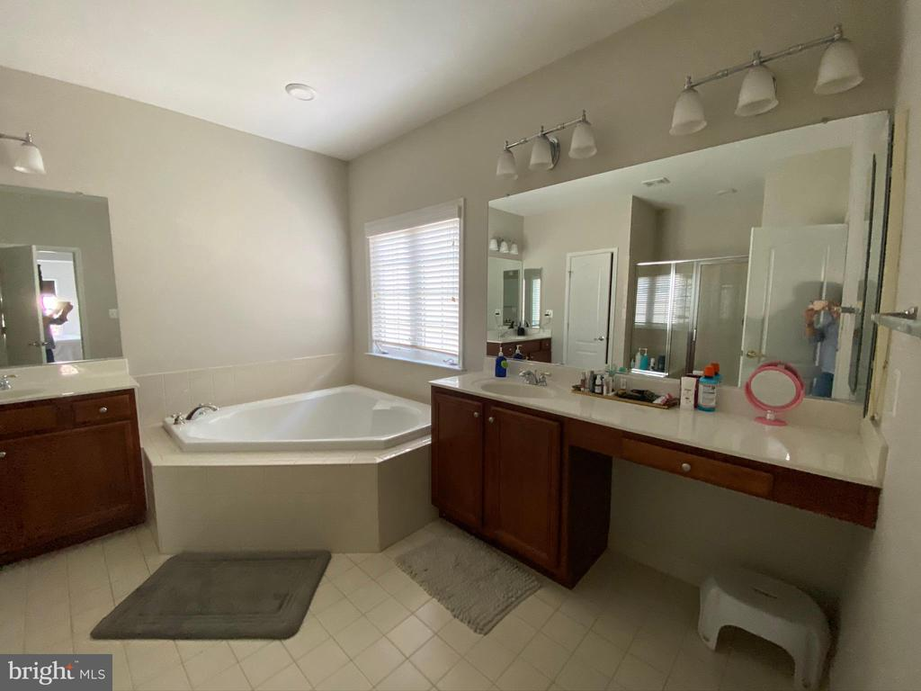 Master bath with separate vanities - 42939 PARK BROOKE CT, BROADLANDS