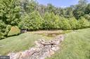 Natural stream with pond - 14016 HARRISVILLE RD, MOUNT AIRY