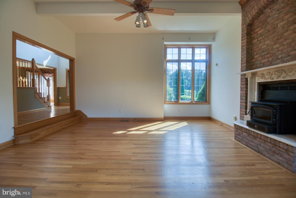 Family Room with fireplace - 14016 HARRISVILLE RD, MOUNT AIRY