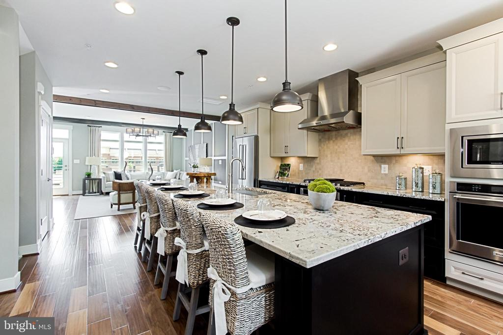 Open Kitchen with large Island for Entertaining - 1889 EASTERLY RD #3010, RESTON