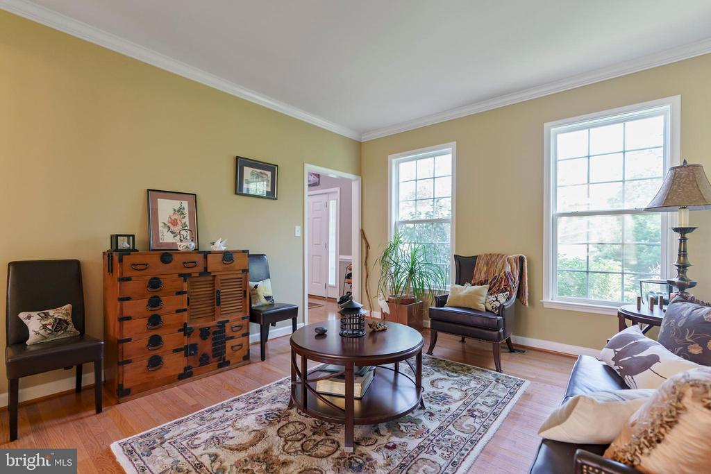 Hardwoods in living room - 12 BLOSSOM TREE CT, STAFFORD