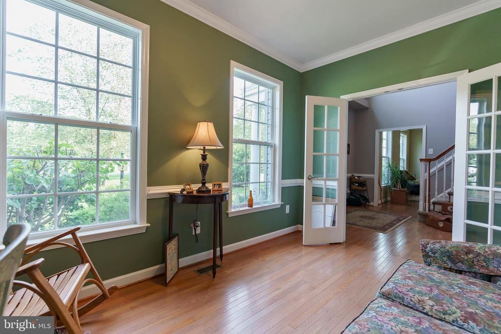 Plenty of natural lighting and hardwoods in office - 12 BLOSSOM TREE CT, STAFFORD