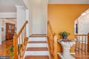 Stairs to upper level of home - 2014 SCHOONER DR, STAFFORD