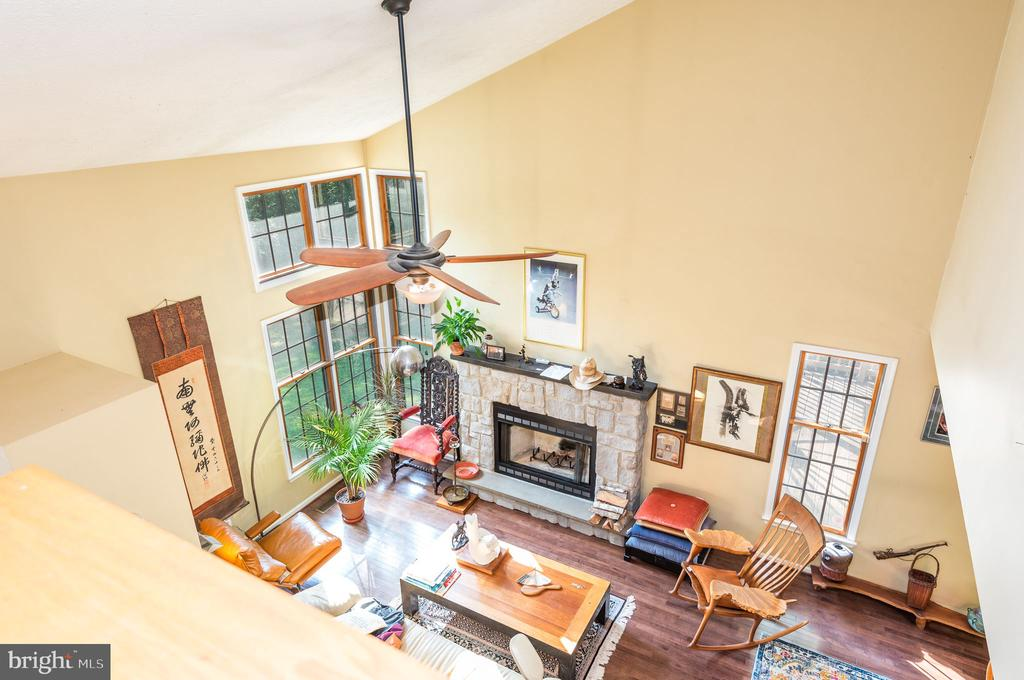 Overview of great room from upper level - 39 CONIFER CT, HARPERS FERRY