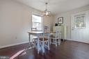 Sunny and bright dining area - 701-B WIRT ST SW, LEESBURG