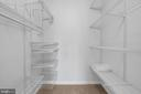 Walk in closet with custom shelving - 4 THORTON CT, STERLING