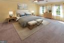 Huge master bedroom!! - 18728 POTOMAC STATION DR, LEESBURG