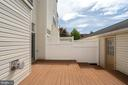 Deck with access to 2-car garage - 25495 GOVER DR, CHANTILLY
