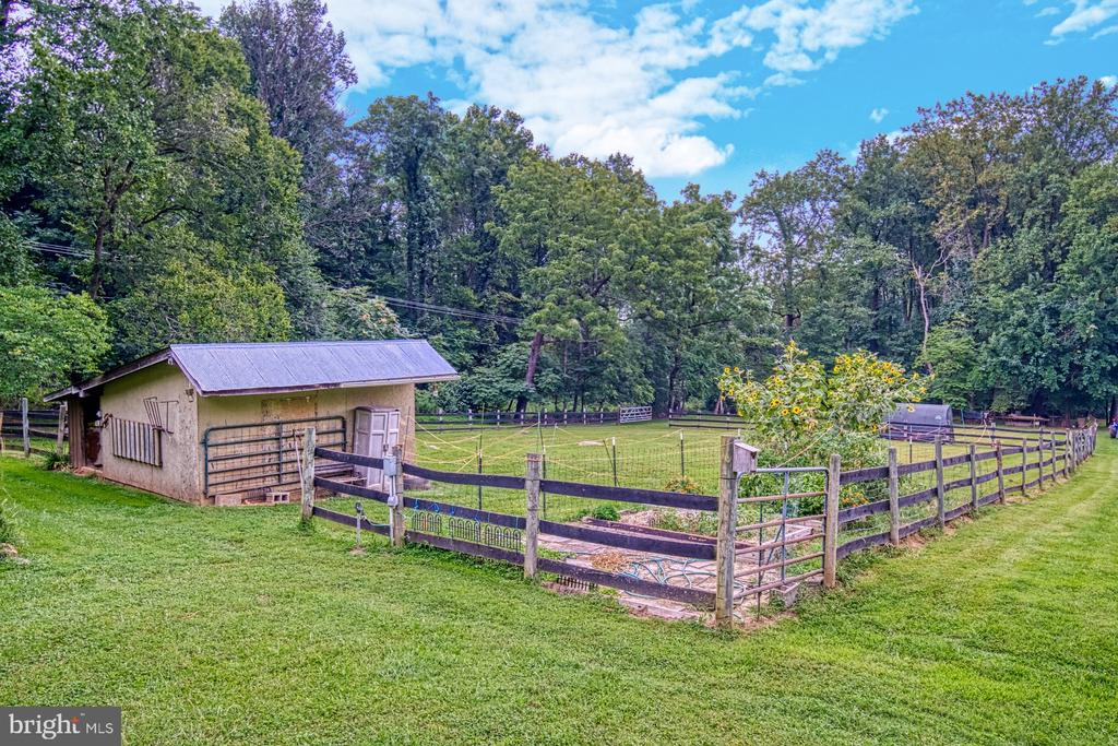 Horse Run-In Shed with Paddock - 12637 MOUNTAIN RD, LOVETTSVILLE