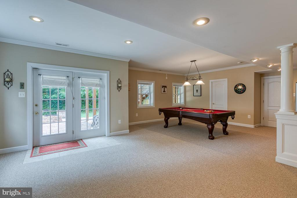 Basement Opens Onto Stamped Concrete Patio - 3 ETERNITY CT, STAFFORD