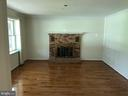 Living room with gas fireplace - 8 WOODROW DR, STAFFORD