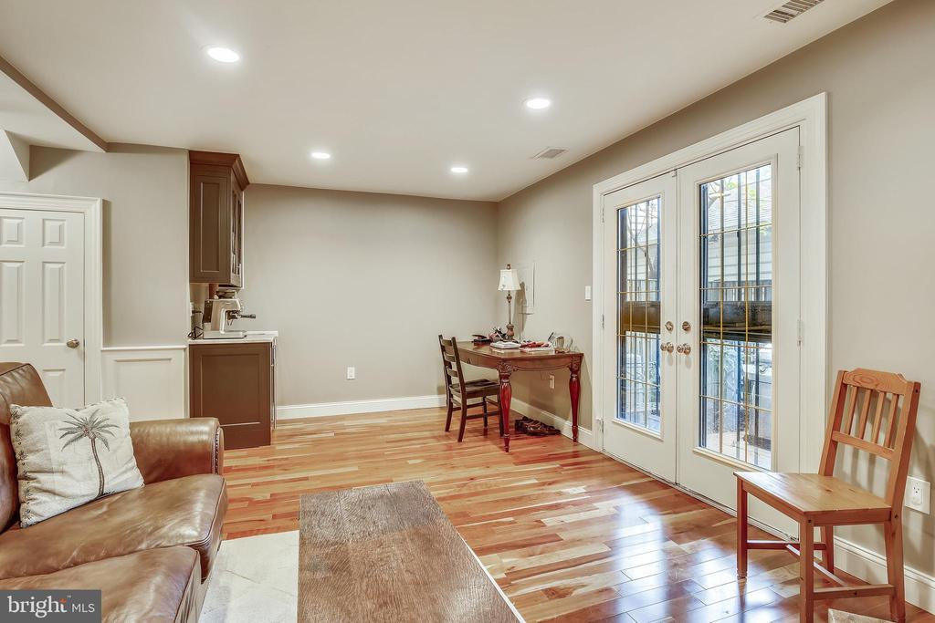 Rec Room with Wet Bar & Walkout to Backyard Patio - 1176 N UTAH ST, ARLINGTON