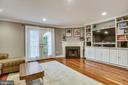 Living Room, custom built shelves & fireplace - 1176 N UTAH ST, ARLINGTON