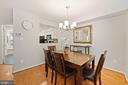 Dining Room - Modern Brushed Nickel Chandelier - 8486 SPRINGFIELD OAKS DR, SPRINGFIELD