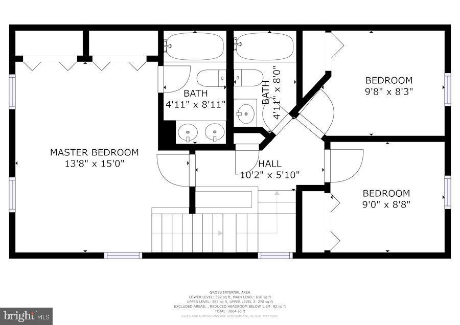 Floor Plan - Upper Level #1 - 8486 SPRINGFIELD OAKS DR, SPRINGFIELD