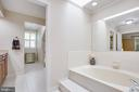 Large soaking tub, skylights up above - 1 NEW BEDFORD CT, STAFFORD