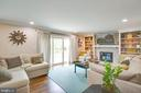 Masonry gas fireplace with built-ins and mantel - 1 NEW BEDFORD CT, STAFFORD