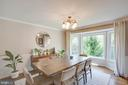 Formal dining room with big bay window - 1 NEW BEDFORD CT, STAFFORD