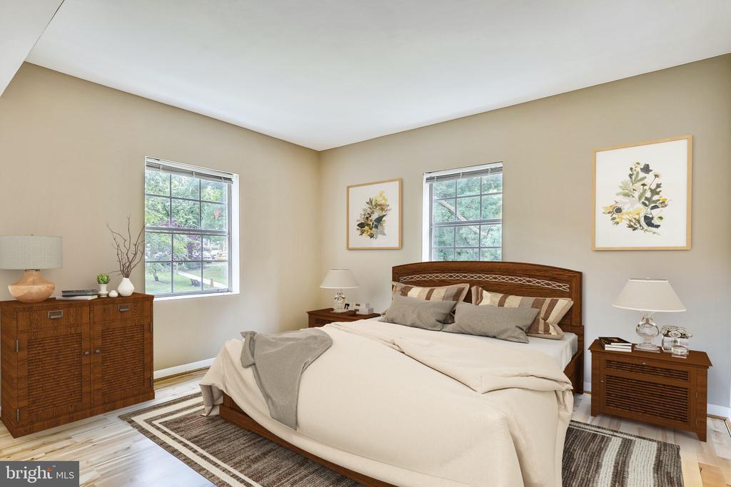 VIRTUALLY STAGED Bedroom. - 2007 KEY BLVD #12592, ARLINGTON