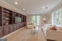 Entry level Family Room with double doors - 3629 ALBEMARLE ST NW, WASHINGTON