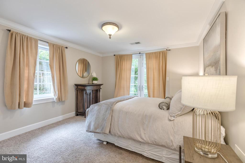 Entry Level Bedroom with natural light - 3629 ALBEMARLE ST NW, WASHINGTON